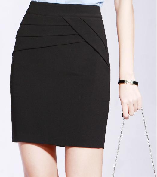 秋冬新款女装半身裙一步裙黑色