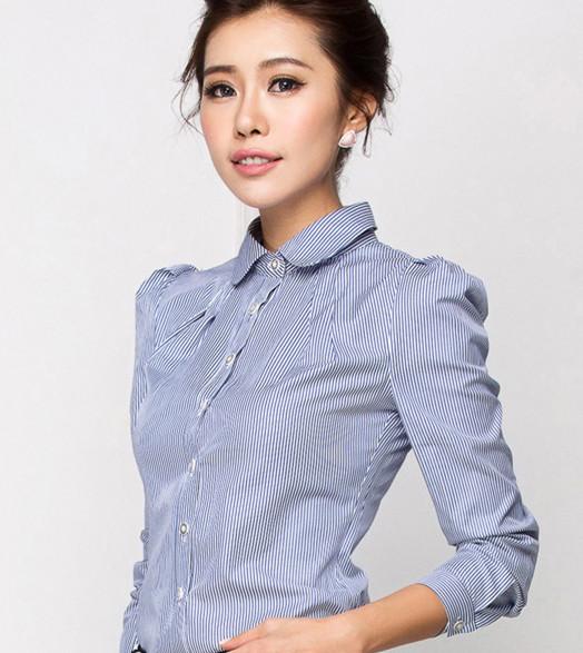 新款职业装衬衫修身时尚OL气质工作服