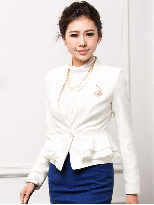 时尚修身外套OL长袖女士职业西服