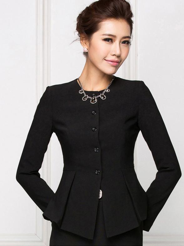 秋冬新款时尚职业装西装女式套装套裙