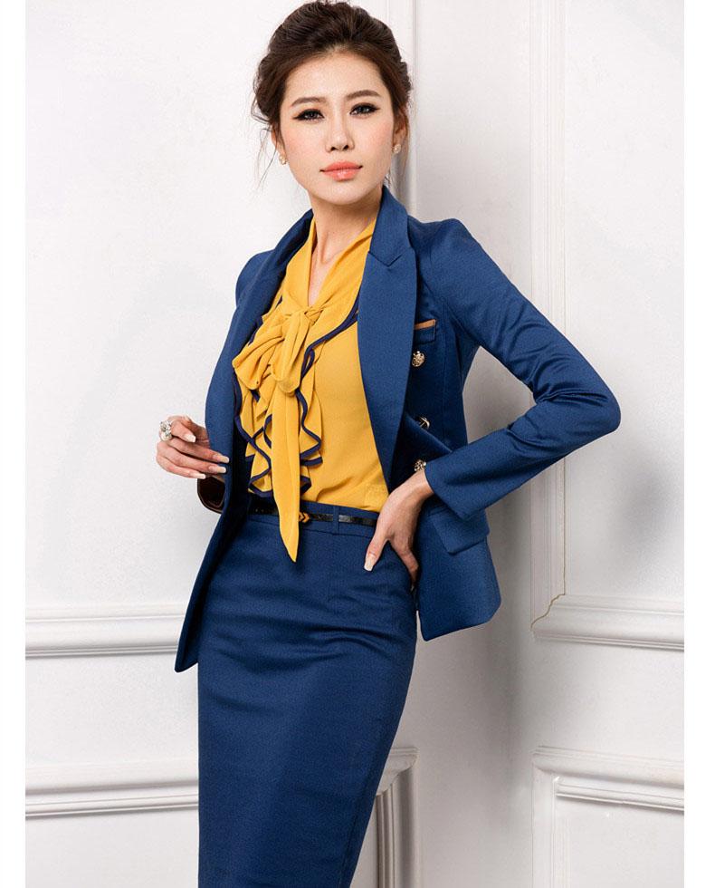 新品职业女装套装韩修身OL套装工作服