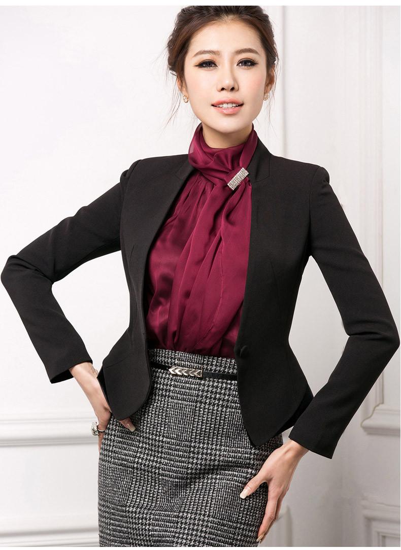 韩版小西服职业女装外套上衣短款