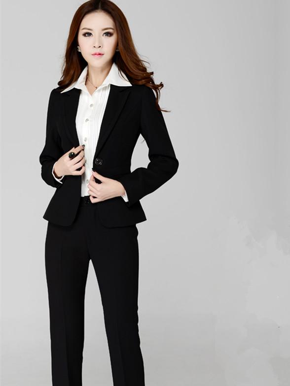 新款套装职业套装职业装女装套裤工作制服女工装