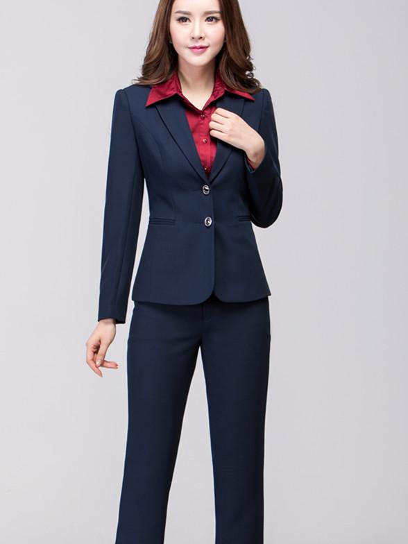 二扣职业装女时尚修身ol套装工装工作制服