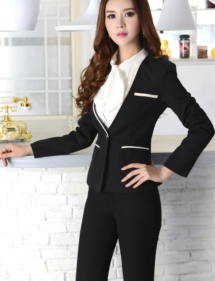 新款套装长袖职业装女ol工装工作服