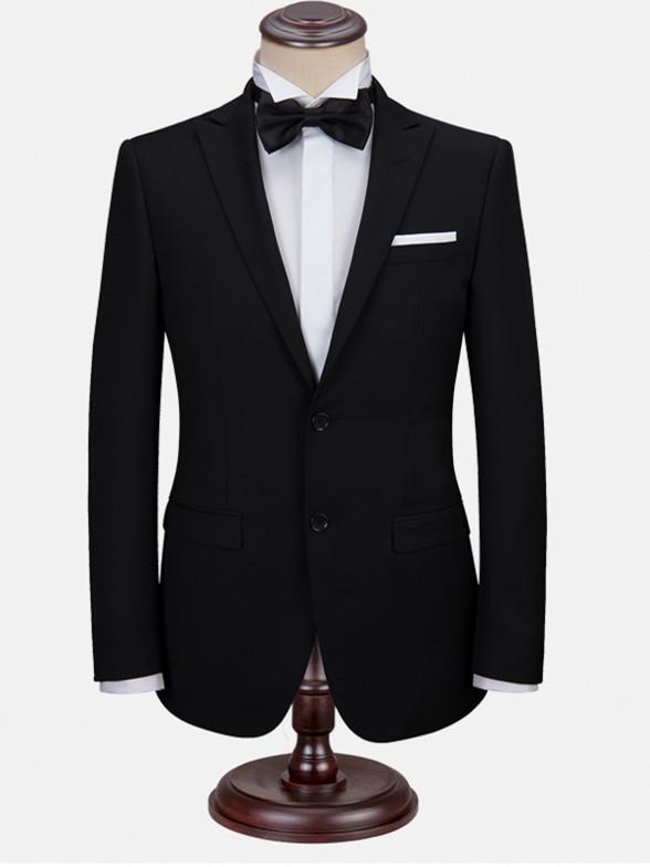 男装西服套装商务正装西装修身新郎结婚礼服