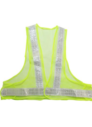 反光v型背心马甲骑行安全反光服路政环卫晶格道路执勤衣服